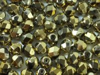 FP 6mm Yellow Gold - Crystal - 20 sztuk