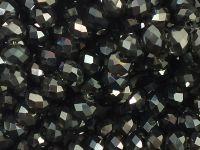 Szklane oponki fasetowane hematytowe 6x5 mm - sznur