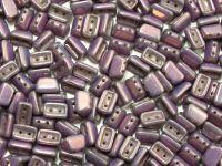Roofy Beads Luster - Metallic Amethyst 8x5 mm - 20 sztuk