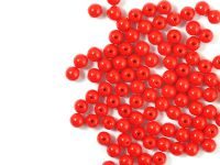 Round Beads Opaque Red 4 mm - opakowanie
