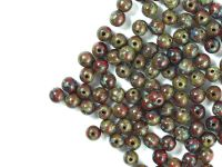 Round Beads Opaque Red - Picasso 4 mm - opakowanie