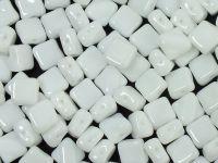 Silky Beads 6mm Opaque White - 20 sztuk