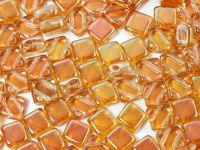Silky Beads Flat 6mm Crystal Apricot Medium - 20 sztuk