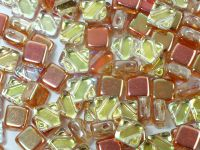 Silky Beads Flat 6mm Crystal Orange Rainbow II - 20 sztuk