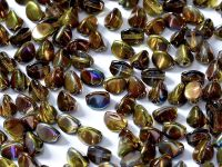 Pinch Beads Magic Yellow - Brown 5x3 mm - 50 g