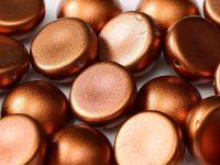 Dome Bead Matte Metallic Dark Copper 10x6mm - 1 sztuka