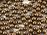 Round Beads Dark Bronze 4 mm - 100 g