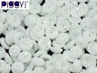 Piggy Beads Opaque White 8x4 mm - 20 sztuk