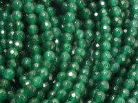 Jadeit malachitowy kula fasetowana 4.5 mm - sznur 39 cm