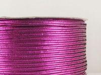 Sutasz chiński różowy metalizowany 3mm - szpulka 50 m