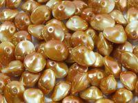 UFO Beads White Full Apricot  - 5 sztuk