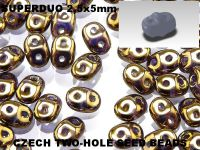 SuperDuo 2.5x5mm Bronze - Crystal - 100 g