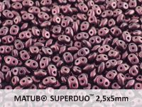 SuperDuo 2.5x5mm Polychrome - Pink Olive - 10 g