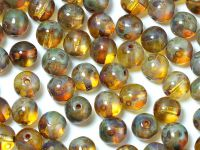 Round Beads Crystal Picasso 6 mm - 20 sztuk