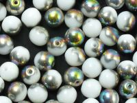 Round Beads Alabaster Vitrail 6 mm - 20 sztuk