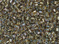TOHO Hex 8o-281 Inside-Color Rainbow Topaz - Olivine Lined - 10 g