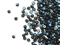 Round Beads Jet AB 3 mm - opakowanie