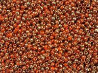 TOHO Round 11o-1707 Gilded Marble Orange - 10 g