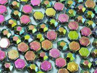 Honeycomb Jewels Chiseled Jet Full Vitrail - 5 g