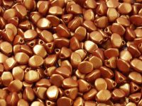 Pinch Beads Gold Shine Brick Red 5x3 mm - 50 g