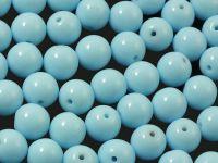 Round Beads Opaque Baby Blue 8 mm - 10 sztuk
