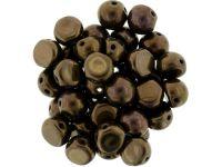 CzechMates Cabochon Dark Bronze 7mm - 10 sztuk