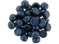 CzechMates Cabochon Metallic Suede Dark Blue 7mm - 10 sztuk