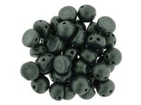 CzechMates Cabochon Metallic Suede Dark Green 7mm - 10 sztuk