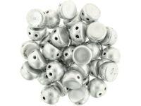 CzechMates Cabochon Matte Metallic Aluminium 7mm - 10 sztuk