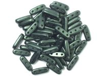 Beam 10x3mm Metallic Suede Dark Green - 5 g