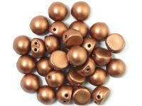 CzechMates Cabochon Matte Metallic Copper 7mm - 10 sztuk