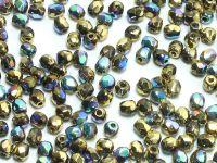 FP 3mm Crystal Glittery Amber - 40 sztuk