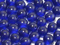 Round Beads Cobalt 8 mm - 10 sztuk