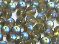 Round Beads Black Diamond AB 8 mm - 10 sztuk