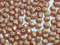 FP 4mm Sueded Gold Siam Ruby - 40 sztuk
