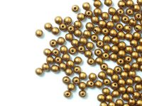 Round Beads Matte Metallic Brass Gold 3 mm - opakowanie