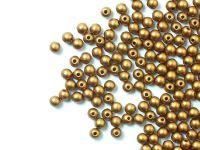 Round Beads Matte Metallic Brass Gold 3 mm - opakowanie