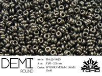 TOHO Demi Round 11o-Y615 HYBRID Metallic Suede Gold - 5 g