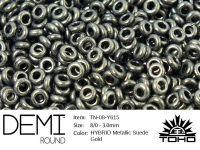 TOHO Demi Round 8o-Y615 HYBRID Metallic Suede Gold - 5 g