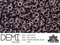 TOHO Demi Round 8o-Y617 HYBRID Metallic Suede Lilac - 5 g