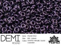 TOHO Demi Round 8o-Y612 HYBRID Metallic Suede Lavender - 5 g