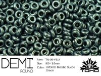 TOHO Demi Round 8o-Y614 HYBRID Metallic Suede Green - 5 g