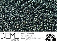 TOHO Demi Round 11o-Y614 HYBRID Metallic Suede Green - 5 g