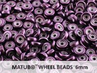 Wheel Beads Metalust Purple 6mm - 5 g