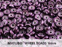 Wheel Beads Metalust Purple 6mm - 5 g