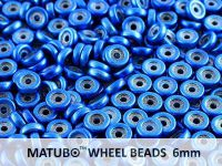 Wheel Beads Metalust Crown Blue 6mm - 5 g