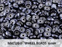 Wheel Beads Metalust Steel Blue 6mm - 5 g
