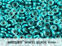 Wheel Beads Metalust Turquoise 6mm - 5 g