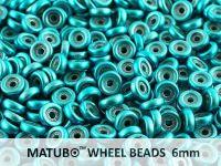 Wheel Beads Metalust Turquoise 6mm - 5 g