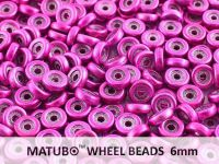 Wheel Beads Metalust Hot Pink 6mm - 5 g